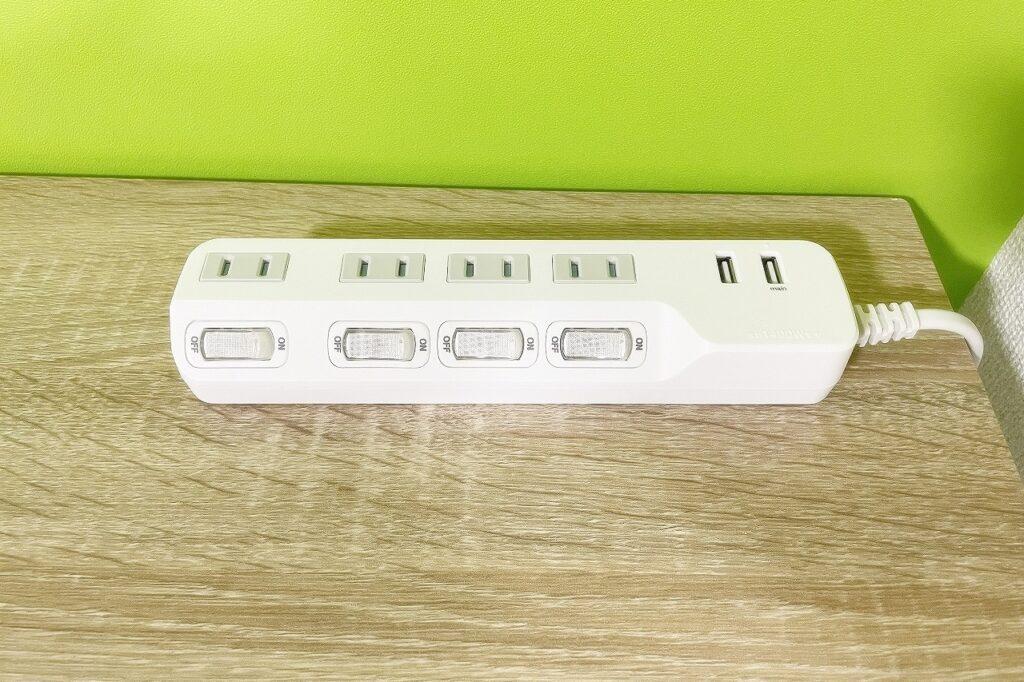 USBポート付きコンセント